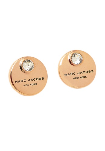 Marc Jacobs gold Marc Jacobs Logo Coin Stud Earrings Rose Gold M0009789 0EEB2AC9A72159GS_1