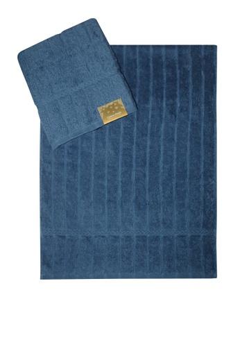 Cotton Fields blue Cotton Fields Hand Towel Stripes 40648HLEF0C9D5GS_1