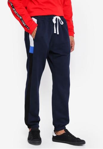 Cotton On 海軍藍色 經典抽繩縮口運動褲 7D942AAC65A9FEGS_1