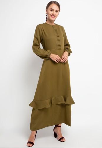 HAZELNUT green Pandora Dress 7E3EBAA92CF9BEGS_1