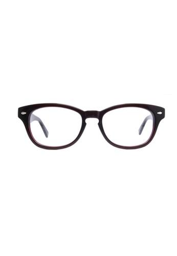 酒紅色鏡框│復古方形│1678-esprit分店C14A, 飾品配件, 眼鏡