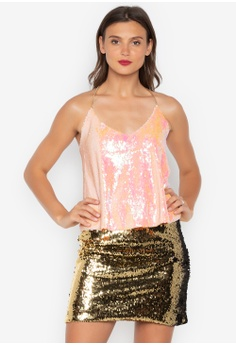 de429c8b46c92 Chase Fashion pink Mayce Sequin Cami Club Top 21365AA4ABF589GS 1