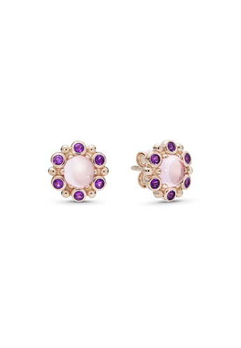 Pandora purple Pandora Heraldic Radiance Stud Earrings 231FAAC6A4098BGS_1