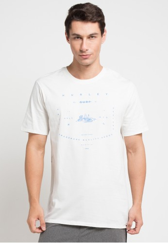 hurley white Tiger T-Shirt EF158AAB6DAFCDGS_1
