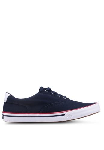 Sperry navy Striper II CVO Nautical Sneakers 3D7BDSH56AC6EDGS_1