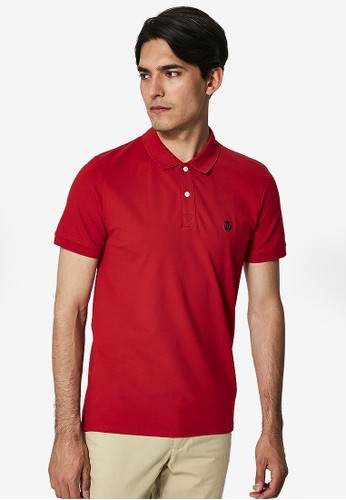 Selected Homme red Classic Polo Shirt 56659AA7347CDAGS_1