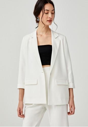Love, Bonito white Alessandra Belted Blazer EED42AA9456DD6GS_1