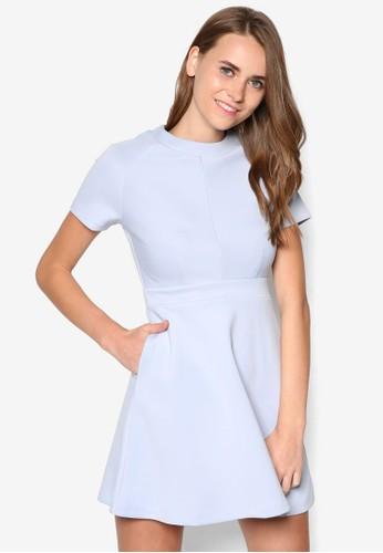 素色拼接洋裝, 服飾, zalora taiwan 時尚購物網鞋子洋裝