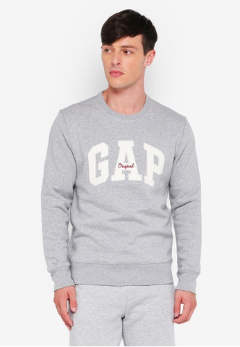 GAP grey Gap Original Arch Crew Sweater 81BF8AAB887043GS_1