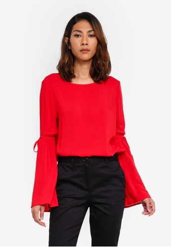 OVS red Long Sleeves Blouse B155FAADCFB139GS_1