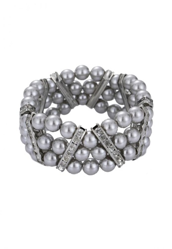 LOVENGIFTS grey LOVENGIFTS Cecile Cinderella Pearl Bracelet (Grey) LO429AC62GKBMY_1