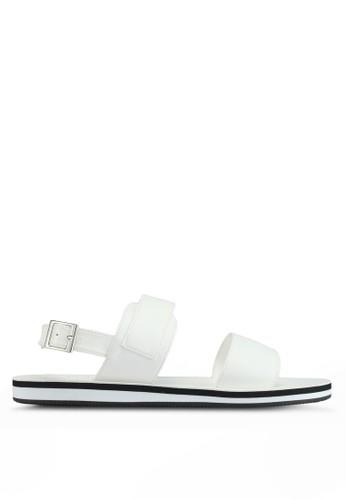 ZALORA white Faux Leather Sandals 5E4C9SH72D4B6FGS_1