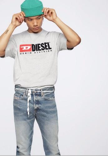 Diesel grey T-Just-Division Tshirt 7EDBAAA817A840GS_1