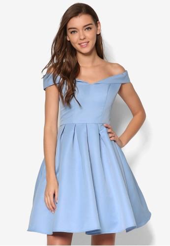 Deesprit hk分店mi 露肩傘擺洋裝, 服飾, 洋裝