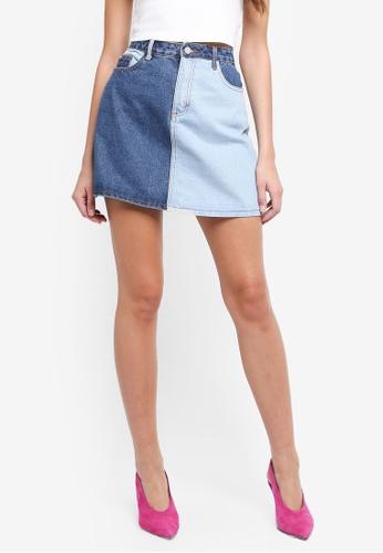 MISSGUIDED blue Denim Super Mini Skirt B0096AA56B3F21GS_1