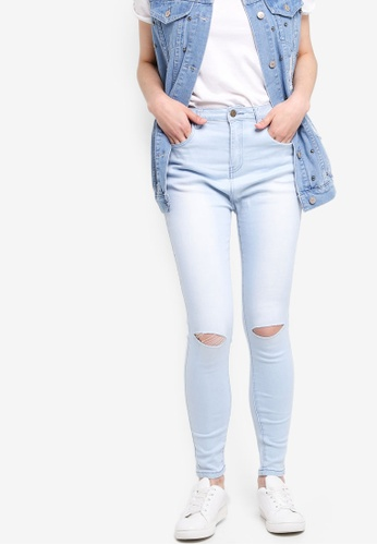 Something Borrowed blue Knee Rips Skinny Jeans 0D26AAA9CBC349GS_1