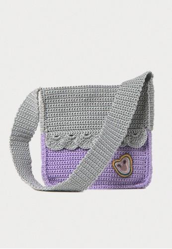 Earth Major Pride Square Bag Purple Grey F8A5DACBC066A4GS_1