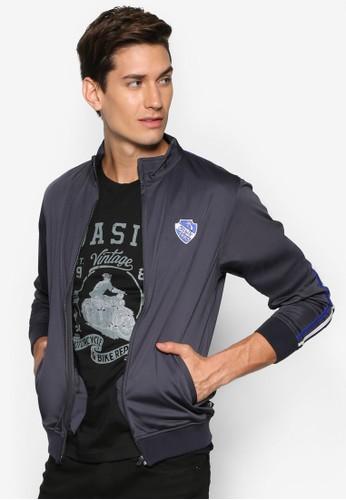 徽章羅紋休閒外套, 服esprit 見工飾, 外套
