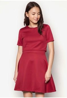 Gia 層次短袖連身裙