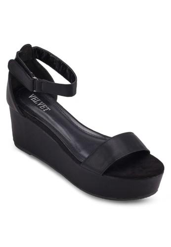 Victoria 厚底包跟涼鞋, 女鞋, 楔形zalora 心得涼鞋