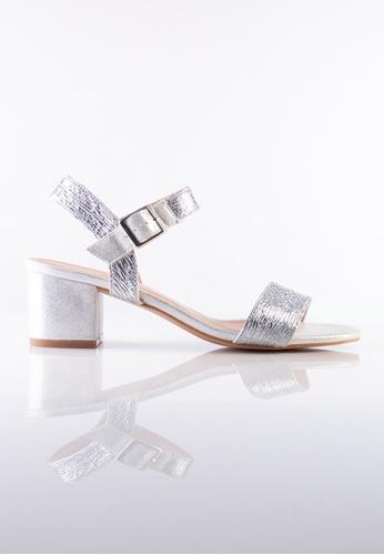 Stilaré silver La Luna Strap-On Sandals in Silver 9351DSH43A5A81GS_1