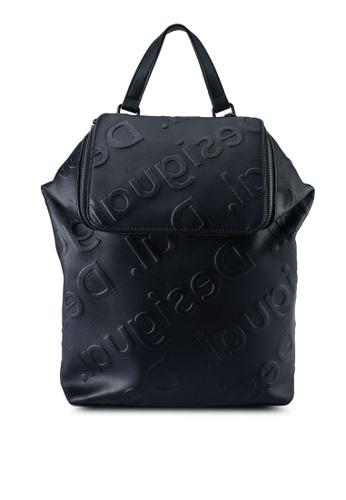 Desigual black Logo Embossed Backpack 6EF5AAC37BC211GS_1