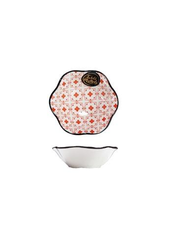 Table Matters multi Crisscross Red - Lotus Leaf Saucer 1DEF0HLF7388DFGS_1