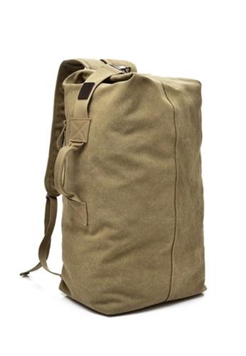 The Catalyst Store beige Khaki Canvas Duffle Backpack Bag 1815CAC8E13637GS 1 94a8d6b13c6