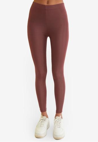Trendyol pink Basic Shiny Disco Leggings 9250FAAE9C3EB7GS_1