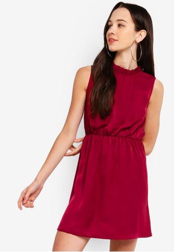 Something Borrowed 紫色 Ruffled Trim High Neck Dress F26A3AAA2BF32FGS_1