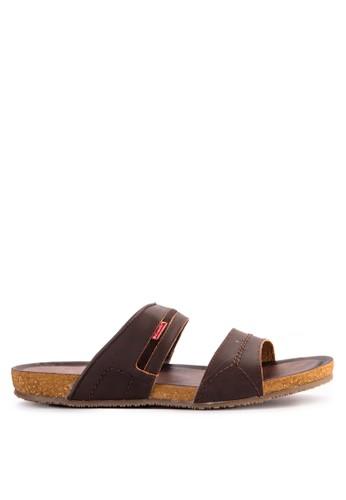 CARVIL brown Carvil Sandal Casual Men Orfeo-02 M Dark Brown 337BDSH2128DD0GS_1