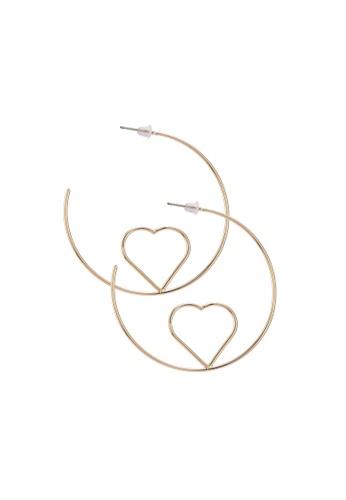 Saturation Gold Love Hoop Earrings 339a1acda7a80bgs 1