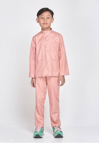 MOTHER & CHILD pink Baju Melayu Sultan Exclusive Kids 85695KA2E385C7GS_1