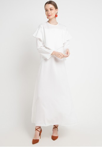 Covering Story white Zianna Dress - B 8D018AA8D7A591GS_1