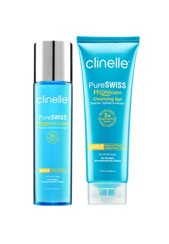 Clinelle Skin Care: Clinelle [Official] PureSWISS Hydracalm Cleanse & Hydrate Pack CL708BE40SVBMY_1