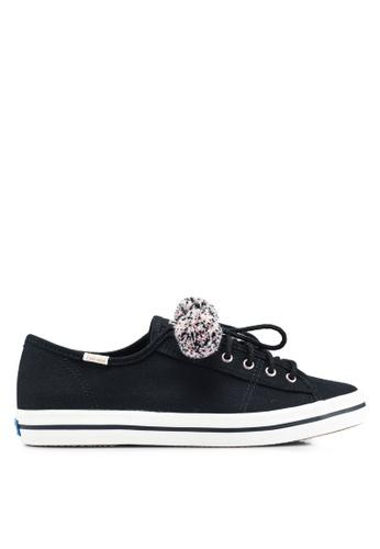 Keds 黑色 Kickstart Pom Pom Sneakers DDEC1SH5587899GS_1
