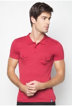 Cotton Slub Polo Shirt with Two Pocket