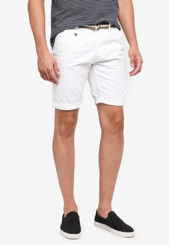 Indicode Jeans white Royce Shorts With Belt 62ADFAAFBB55B0GS_1