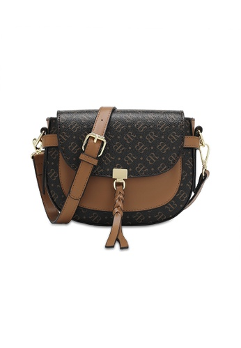 Bethany Roma brown Bethany Roma Monogram Sling Bag - Brown D18D7AC1AA3BF3GS_1