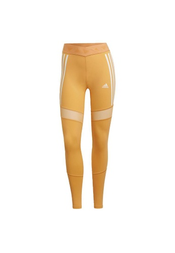ADIDAS orange adidas Mesh Tights 1B164AAAB48B99GS_1