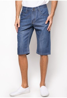 Medium Wash Soft Denim Shorts