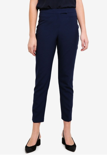 Dorothy Perkins navy Regular Navy Straight Trousers 00027AA3DDB10BGS_1