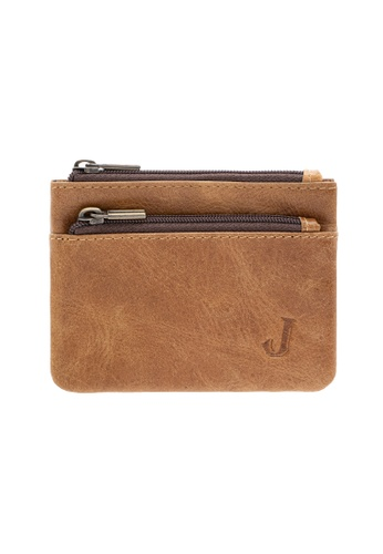Jack Studio brown Jack Studio Small Leather Coin Purse Pouch Card Wallet 1D12BACB0D5376GS_1