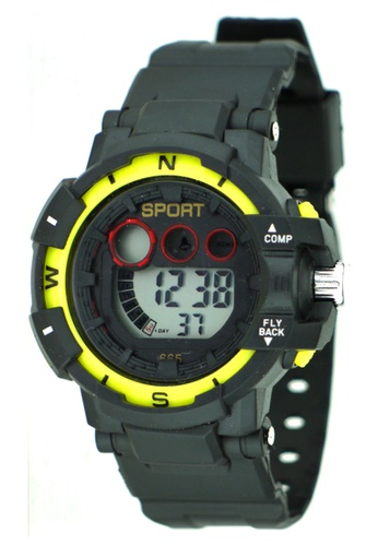 Dooka yellow Multifunction Sports Watch 665 DO079AC37MFQPH_1