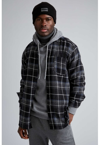 DeFacto black Long Sleeve Shirt 76AC4AADBE3E9BGS_1