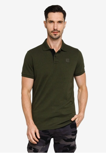 Hollister green Core Exploded Icon Patch Polo Shirt D5608AAA58C7C2GS_1