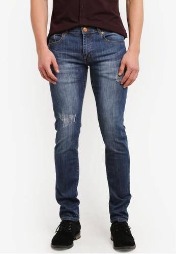 Electro Denim Lab 藍色 Indie Skinny Jeans EL966AA0SF7UMY_1