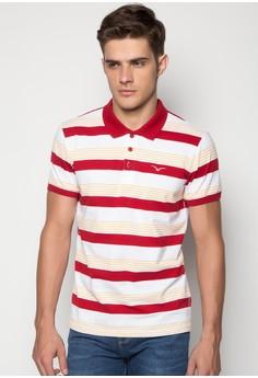 Freego Men's Slim Fit Stripes Polo Tee