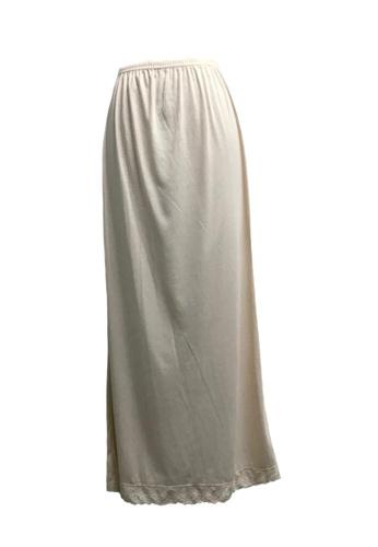 Modernform International beige Petticoat Long Skirt (M918A) FF3EBAABCDFFC7GS_1