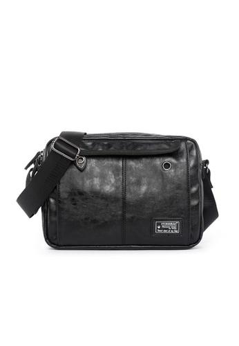 Lara black Plain Zipper Cross Body Bag - Black A10F9AC2F6E809GS_1